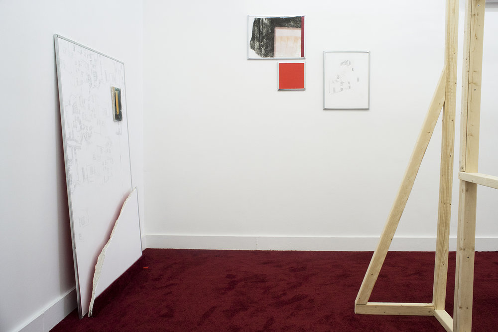 Installation shot from Kate Stone's solo exhibition, As It Was (As It Were)