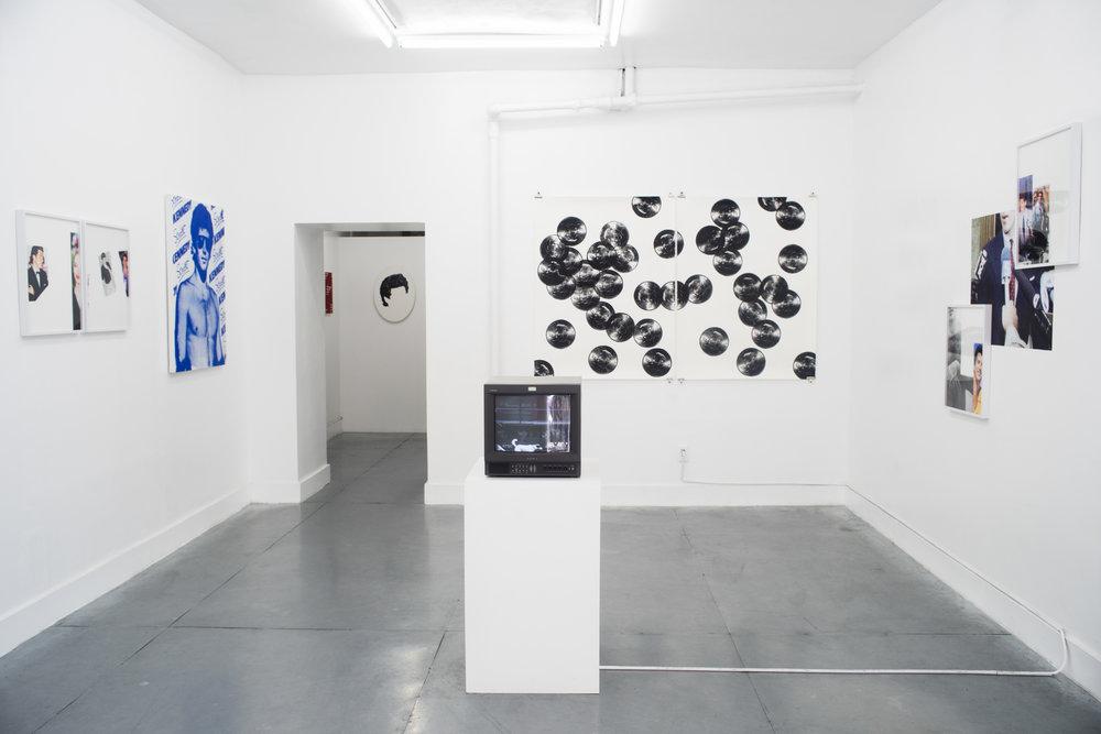 Installation shot from Pacifico Silano's solo exhibition,John John.