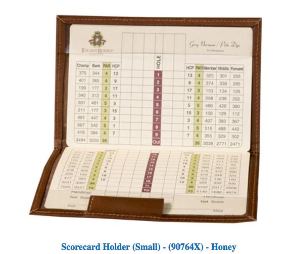 Scorecard Holders