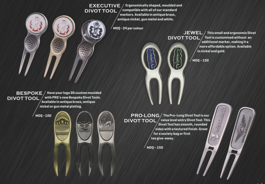 Executive, Jewel, Bespoke & Dro-Long Divot Tools