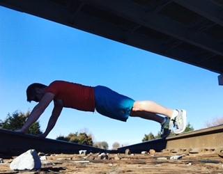 plank-on-rails
