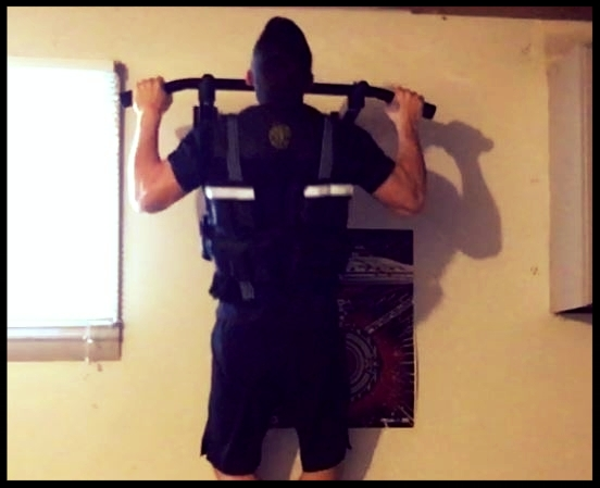 WALL MOUNT PULL-UP Bar - Using weighted Vest