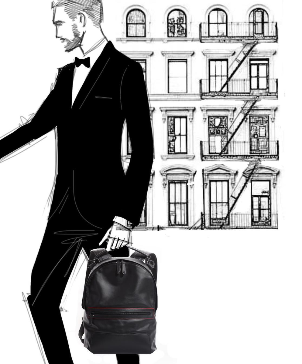 GRY NEW YORK BACKPACK SKETCH