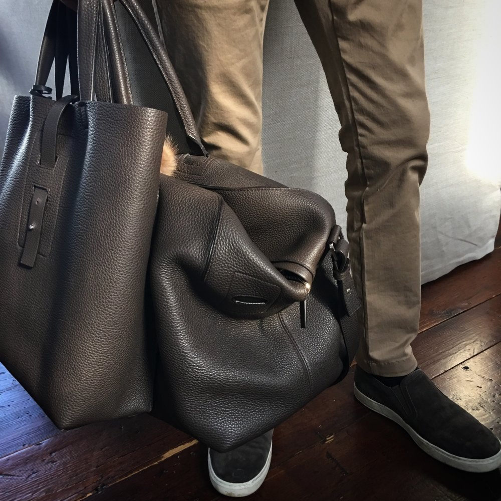 Grey New England Duffle and Tote