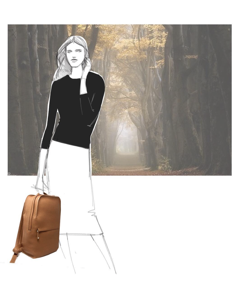 grey new york grey new england sketch gnygne caramel backpack