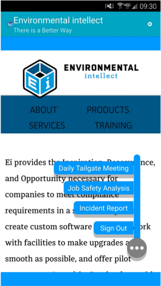 EI SAFETY: JUST ONE OF THE MANY TOOLS WE USE TO DRIVE SAFETY CULTURE