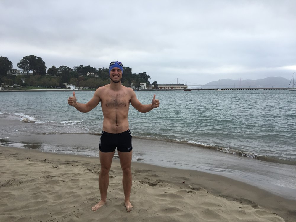 Swim number 1 at Aquatic Park