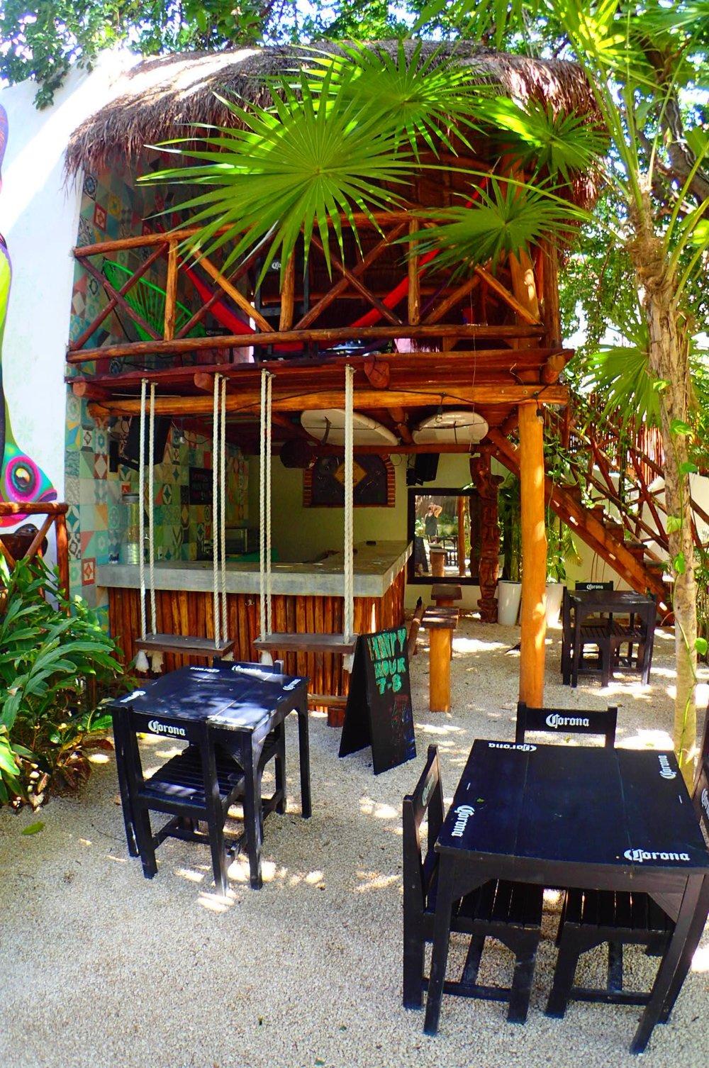 Hostal MX's beautiful & relaxing courtyard.