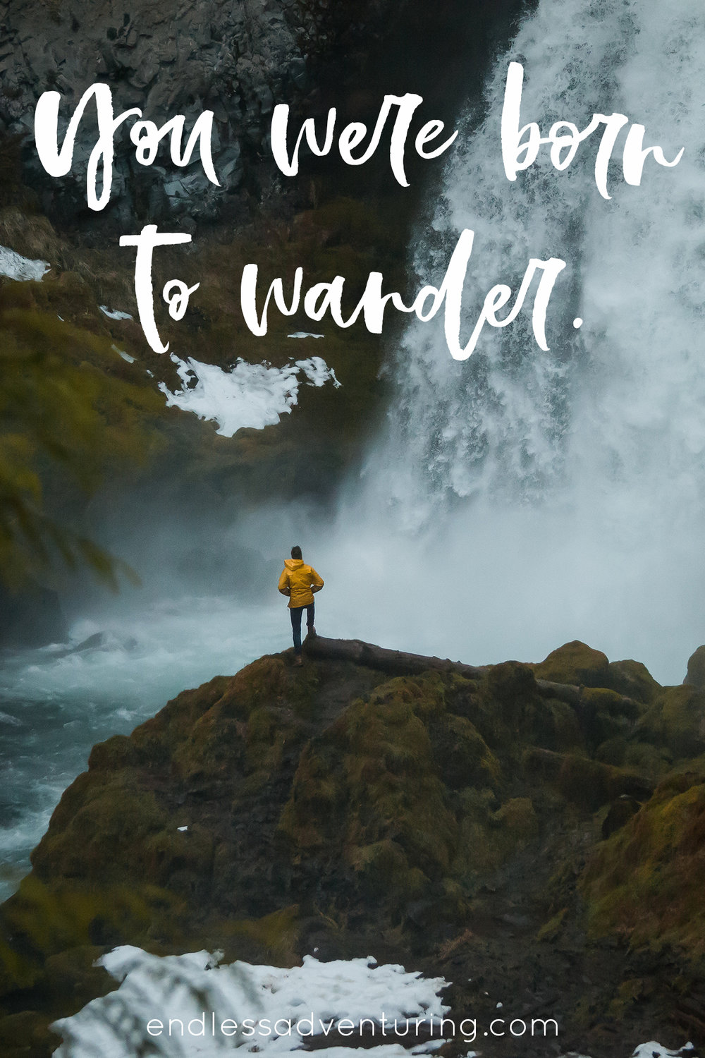 Travel Quote - You Were Born To Wander