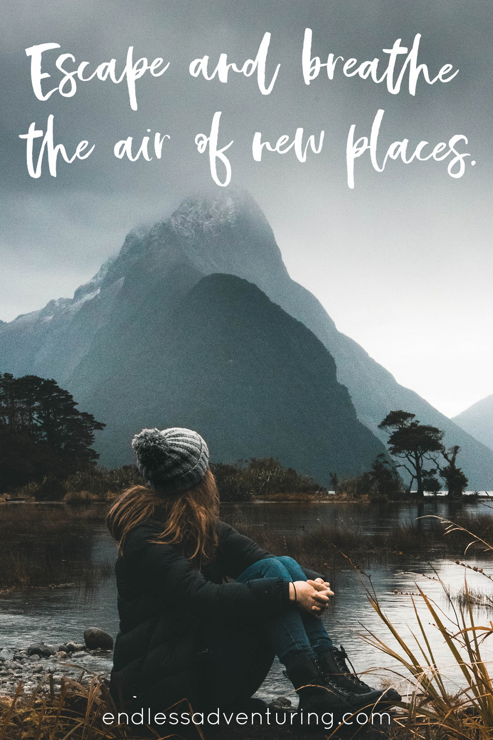 Adventure Quote - Escape and Breathe the Air of New Places