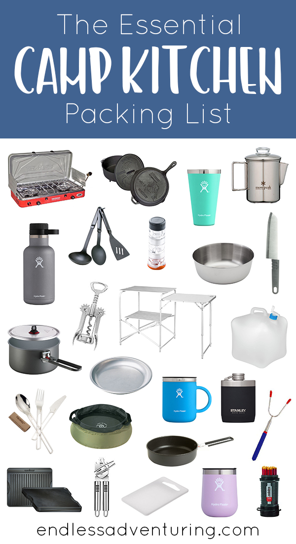 The Essential Camp Kitchen Packing List