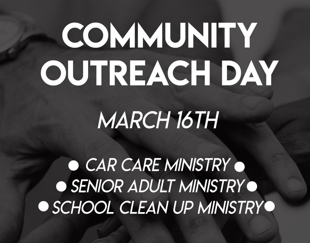 fill out the form below to sign up to help with the community outreach day