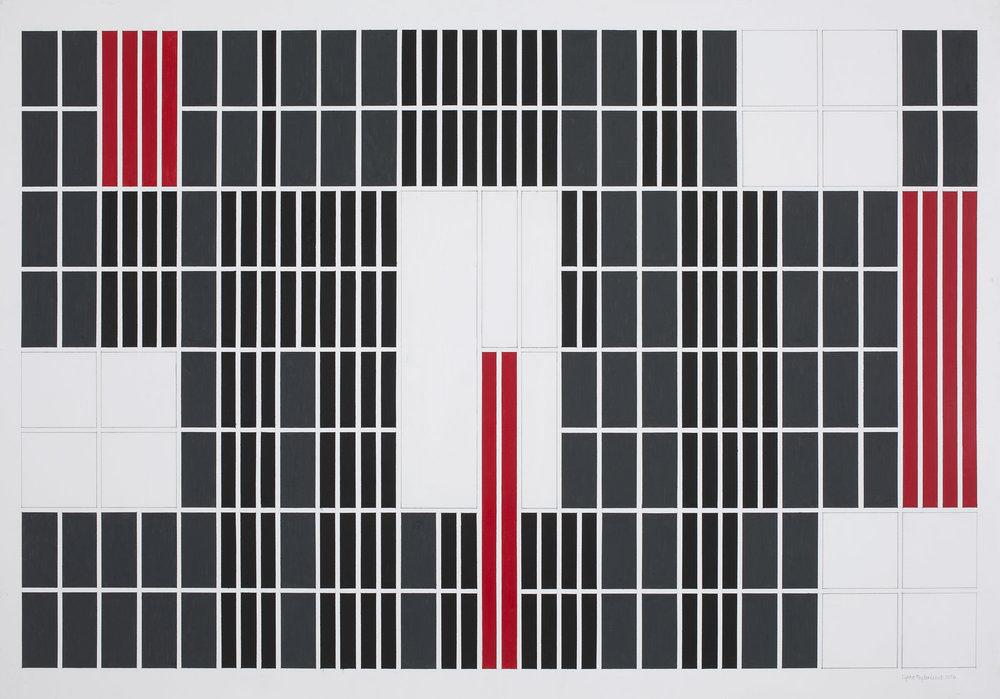70x100 cm Blyant, oljepastell, gouache 2016