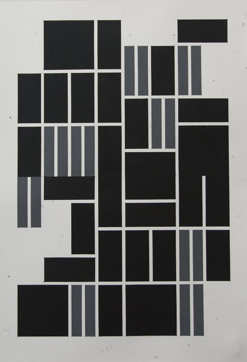 54x38 cm Blyant og oljepastell på papir 2017