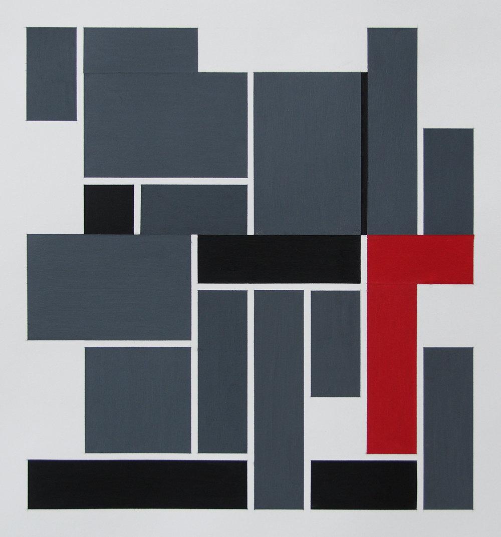 54x51,5 cm Blyant og oljepastell på papir 2018