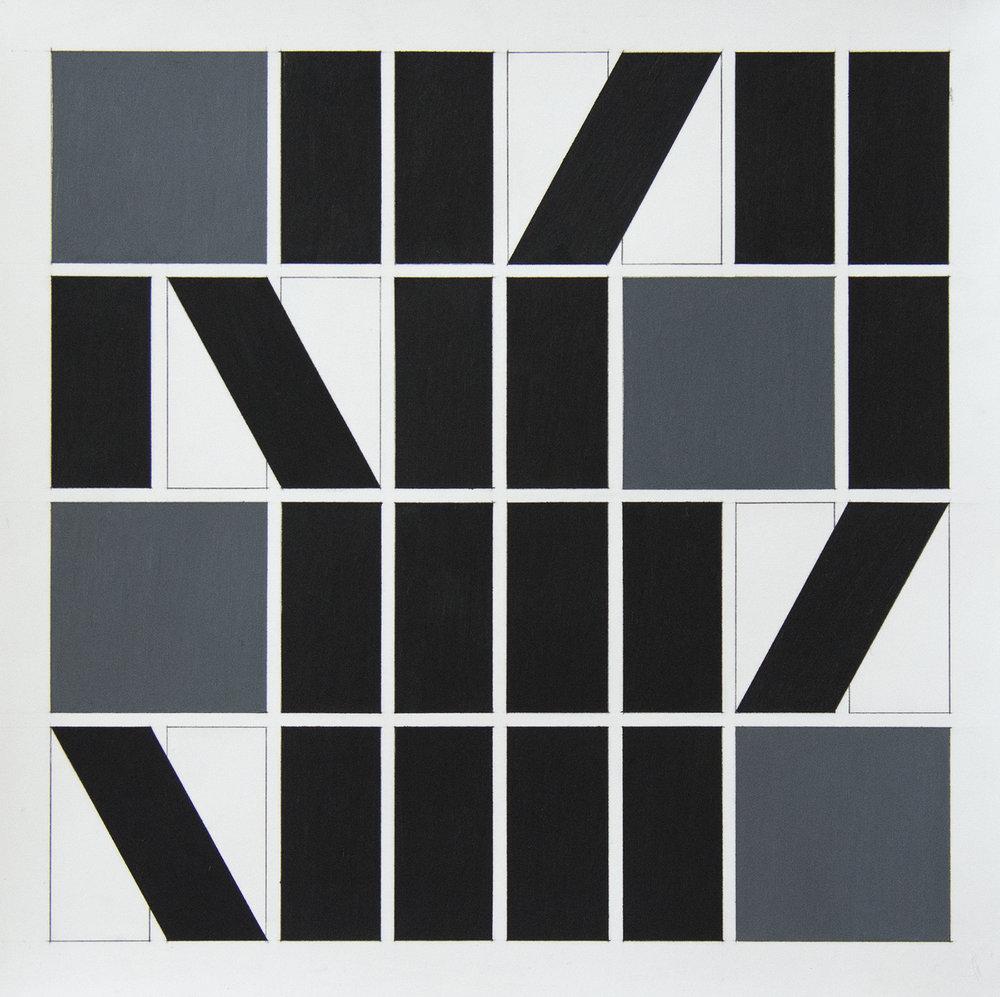 50x50 cm Blyant og oljepastell på papir 2018