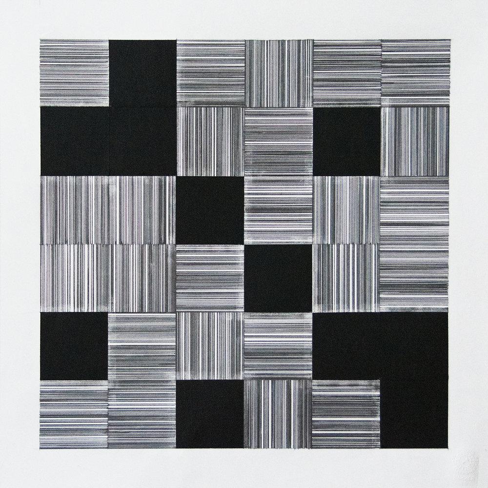 36x36 cm Blyant og oljepastell på papir 2018