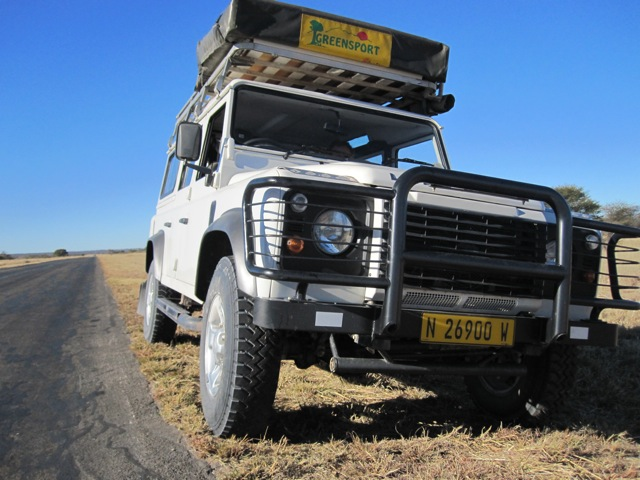 The rugged, classic, Land Rover 110 with roof-top tent