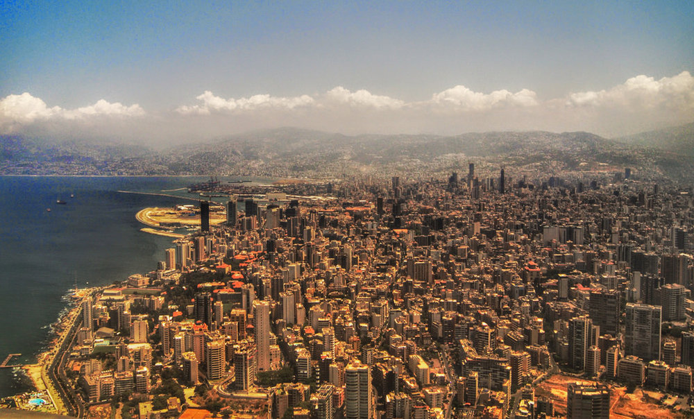 Beirut, city by the Med, with mountains in the background  Picture courtesy of  marviikad (Flickr)