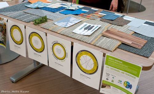 In The School Of Construction Eco Friendly Materials And Products Were Showcased To Help Students Make Ethical Choices Accompanying These Was