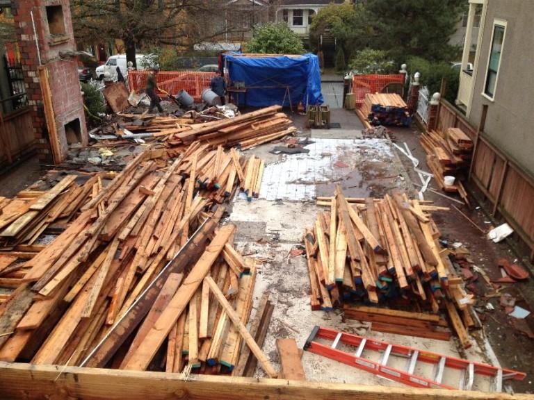 Post Deconstruction Material Piles