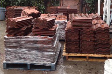 Roof Tiles Ready to be Reused