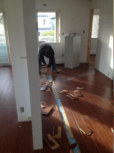 Salvaging Floor Boards
