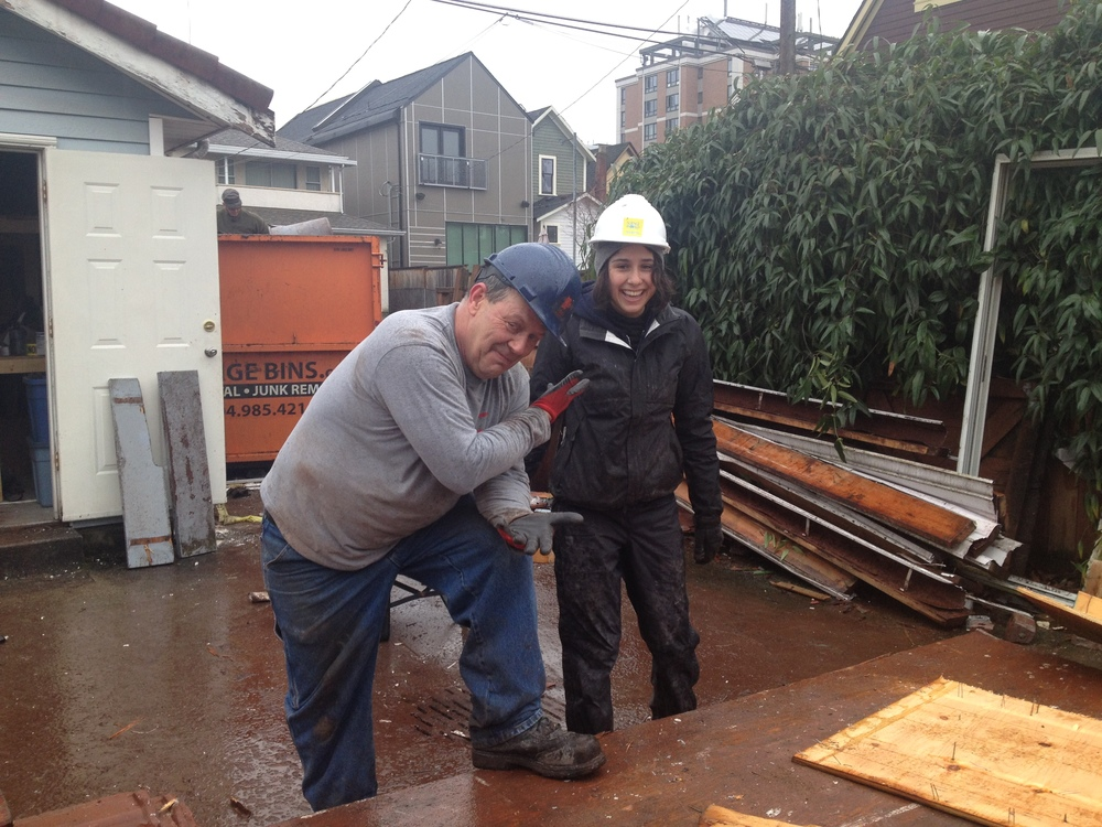 Habitat Crew Working in the Vancouver Rain