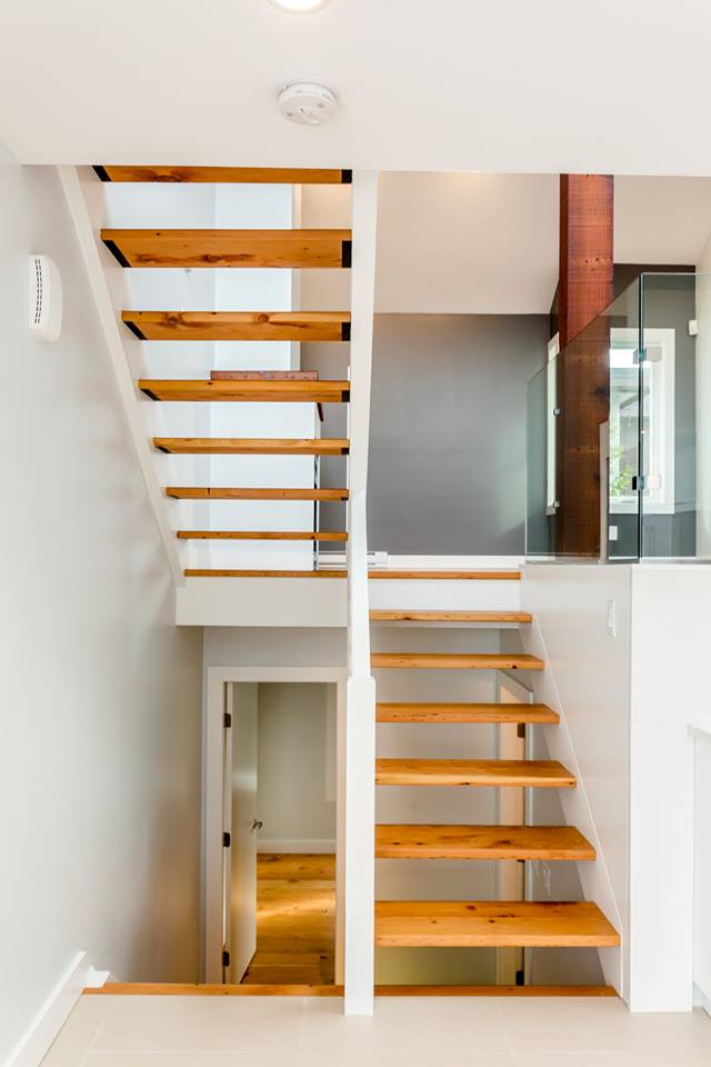 1672 Arbutus St Reclaimed Wood Floating Staircase