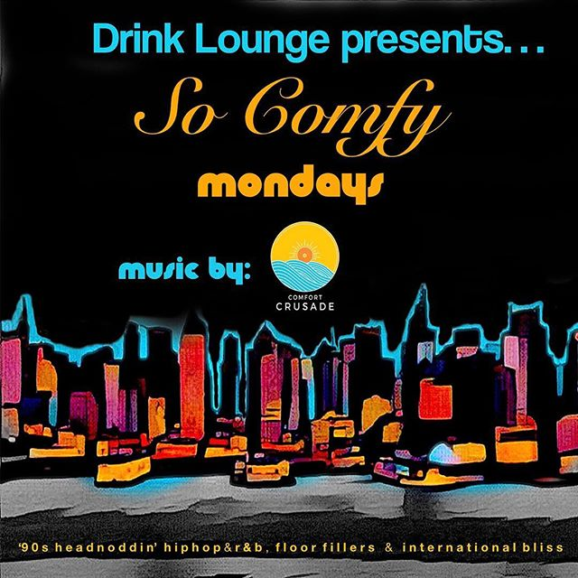 Keep it #comfy this evening. Come by and enjoy. #party #happyhour #mondayvibes #goodvibes #chill #dj #djlife #musicproducer #nyc #brooklyn #newyork #lounge #nightlife #instagood #instamusic #gladiatorrecords #comfortcrusade #visit #tourism #travel #local #fun