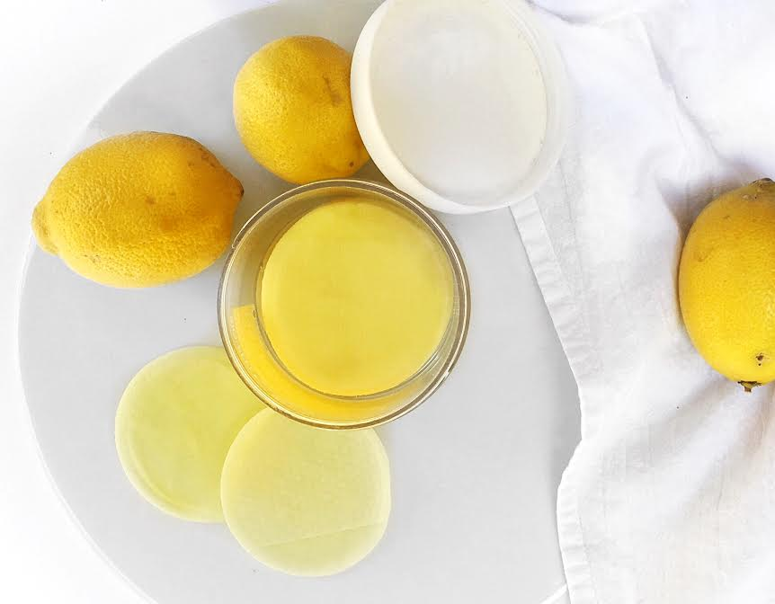 lemon peel pads