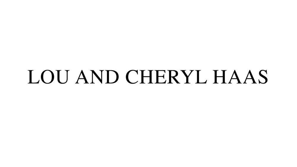 Lou and Cheryl Haas