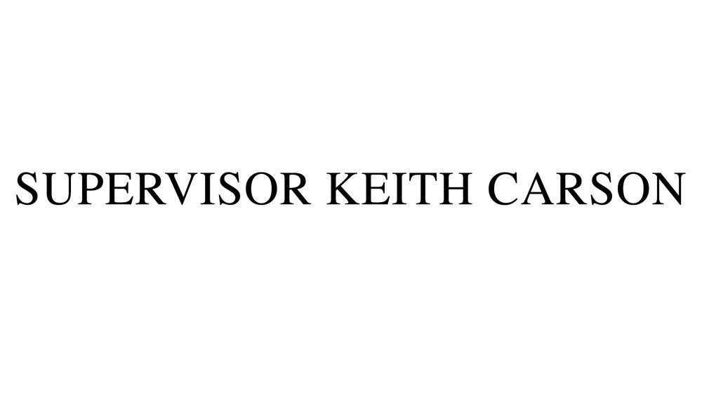 Supervisor Keith Carson