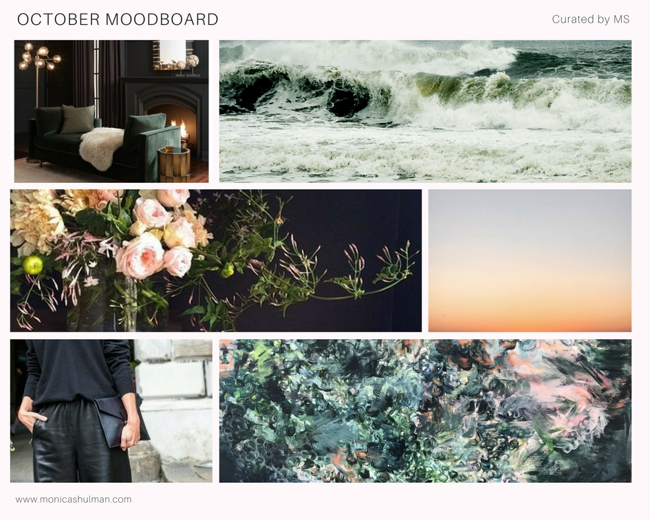 Monica Shulman October 2017 Mood Board