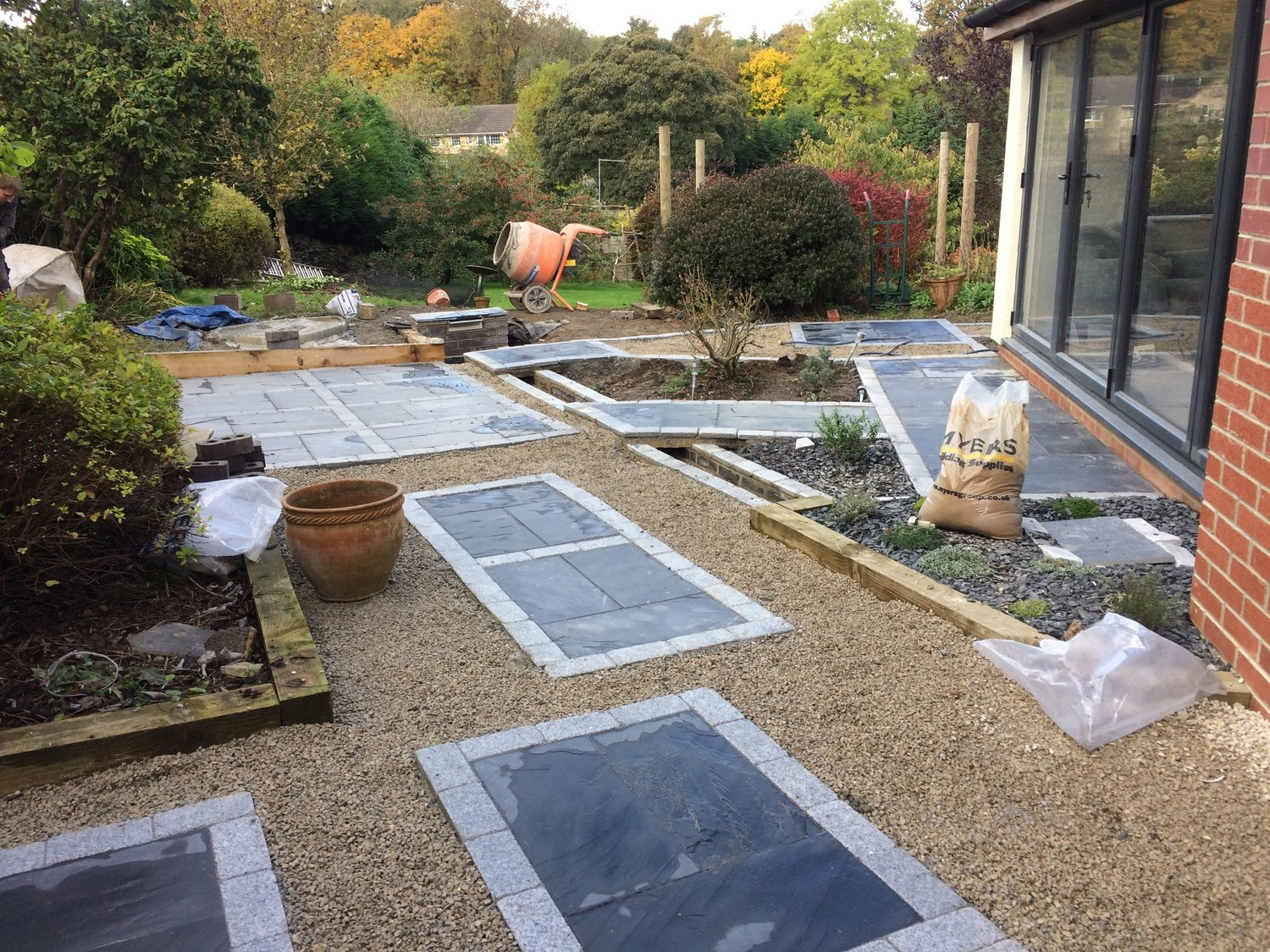 Landscape Gardeners Sheffield Spences landscapes black slate granite setts workwithnaturefo