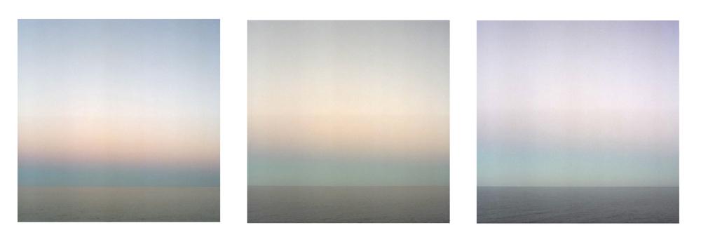 """Sea Of Cortez Dusk   3 images, 30"""" x 30"""", 2007"""