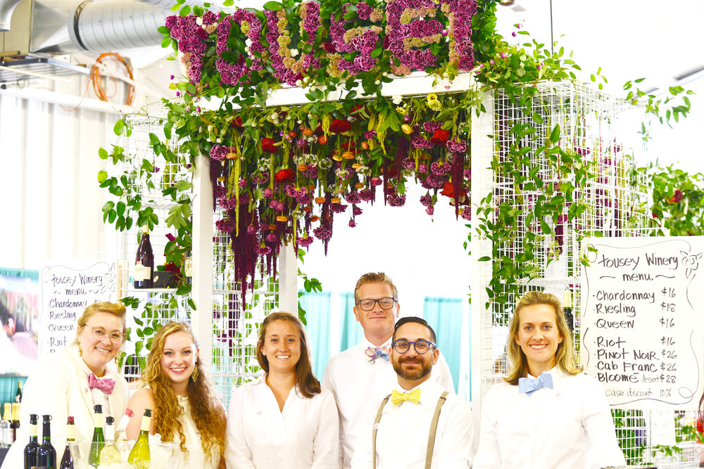 The Tousey staff at the Floral Entry Arch.