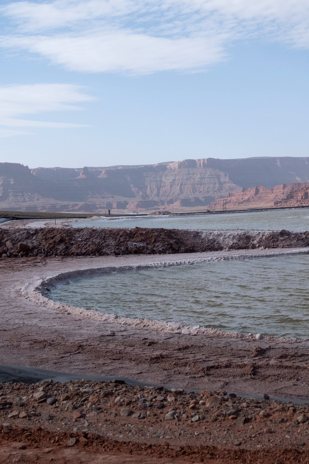 Intrepid Potash evaporation pond,  Moab, Utah 2018.