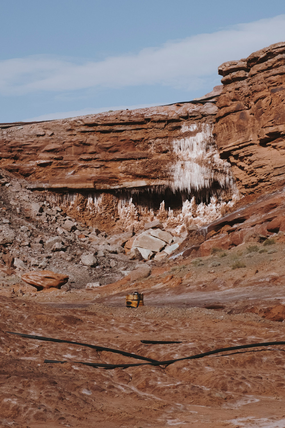 Salt moved by water,  Moab, Utah, 2018.