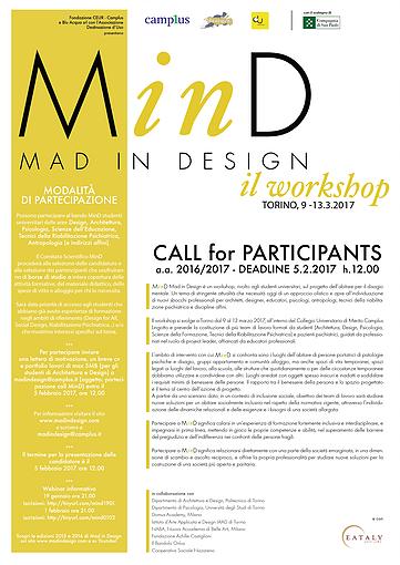 La call per il workshop MAdindesign . Foto dal sito