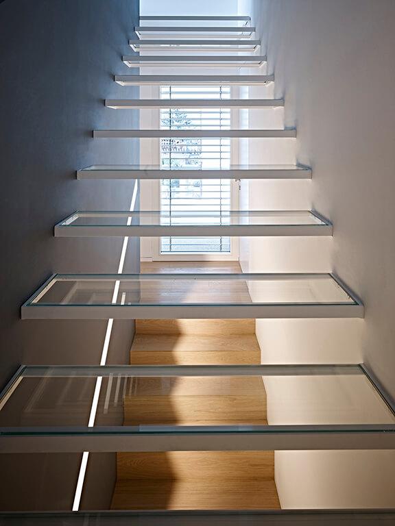 La scala in vetro - prima rampa