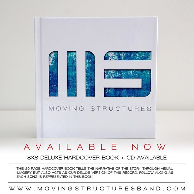 For those of you looking for a physical copy, 8x8 Deluxe CD Hardcover Books now available! #movingstructures #postrock #instrumental #recordrelease #postmetal #nowavailable www.movingstructuresband.com