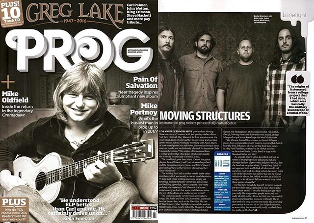 Special Thanks to @progmagazine for a feature and interview in this months issue. Pick one up at most major book stores & online! #instrumental #prog #progmagazine #postrock #postmetal #movingstructures http://ow.ly/6r4T309bGdz