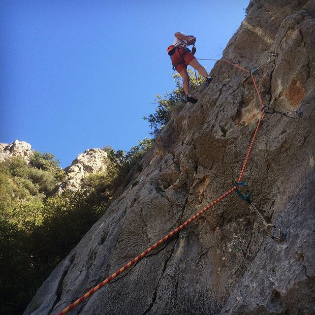 Pete lowering off a route in Gandia, Spain today. #climbing #rockclimbing #ThamesValleyClimbingClub #climbing_pictures_of_instagram #rock #sportclimbing #climbingclub #gandia #gandiaclimbing #spain #spanishclimbing