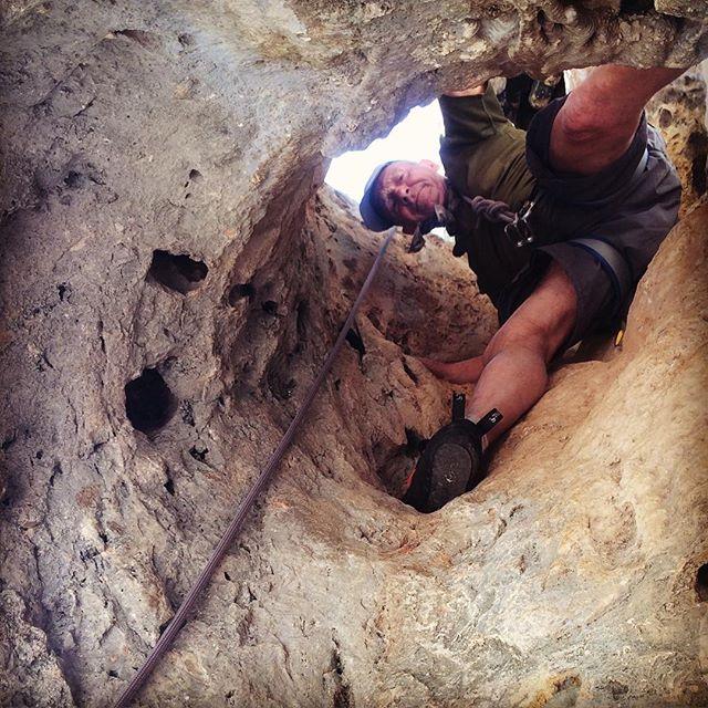 Alan threading the needle in Gandia, Spain. #climbing #rockclimbing #ThamesValleyClimbingClub #climbing_pictures_of_instagram #rock #sportclimbing #climbingclub #gandia #gandiaclimbing #spain #spanishclimbing