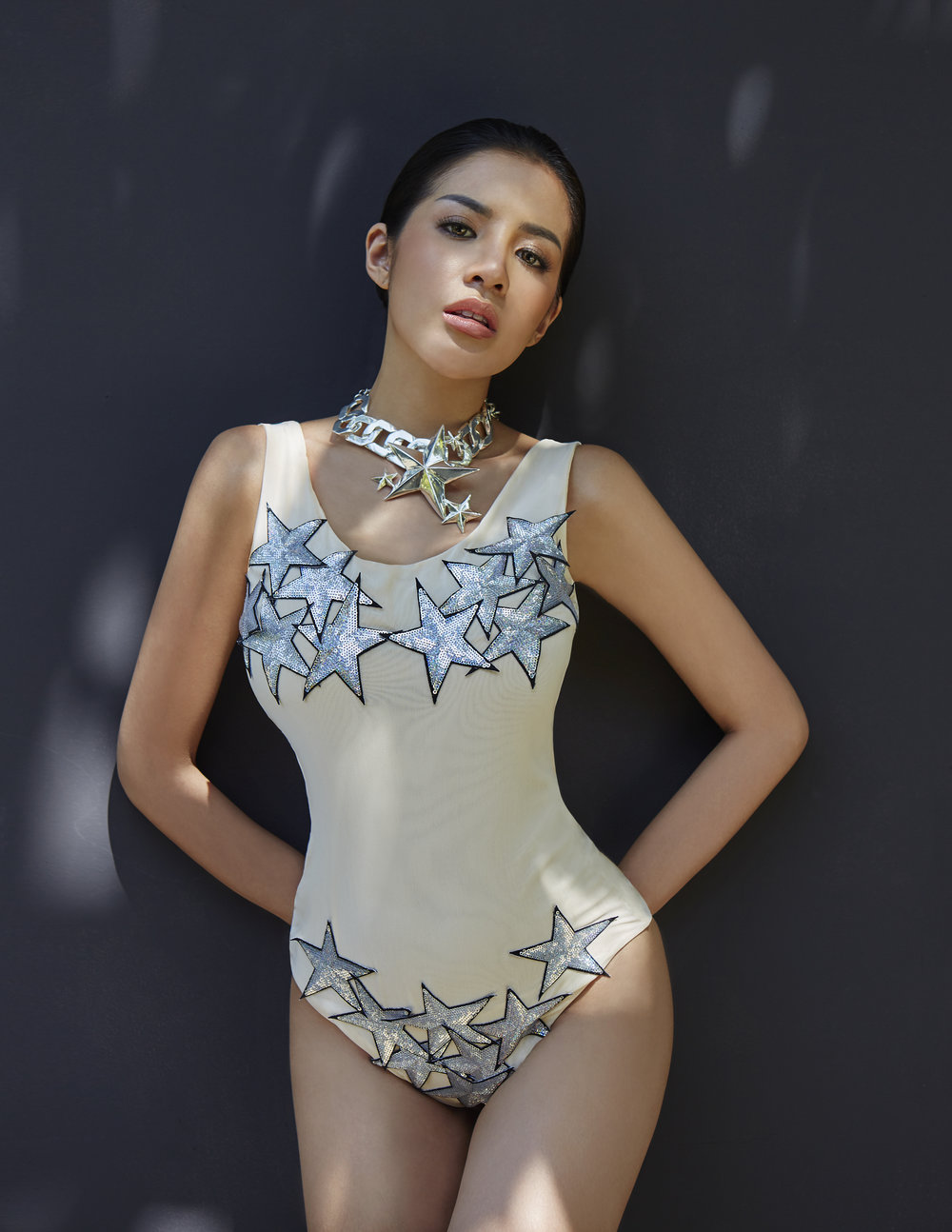 swimwear / necklace : MAIBE