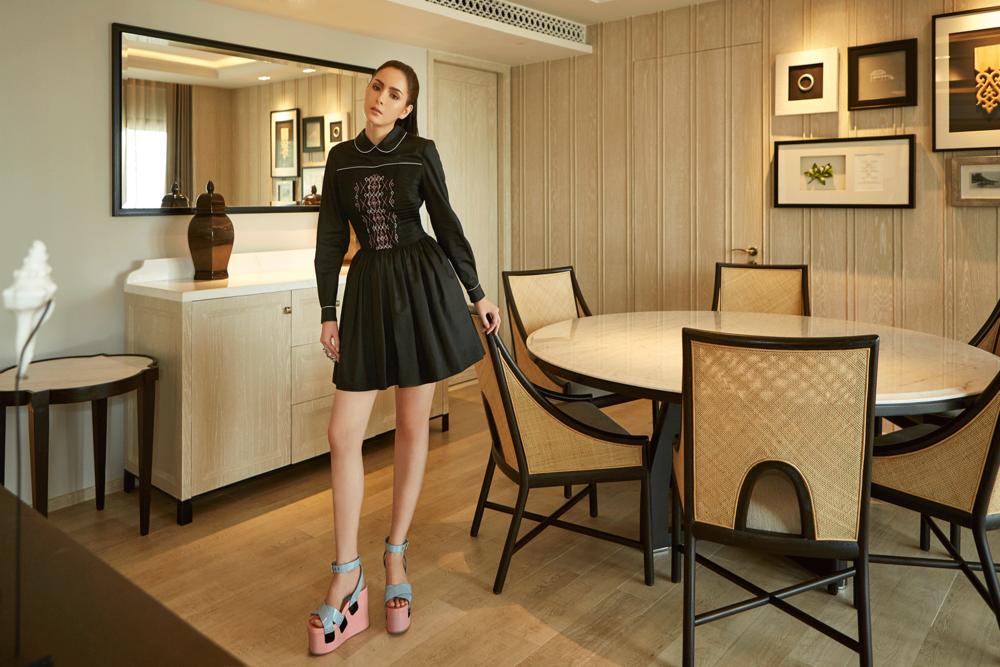 dress and shoes : MIU MIU