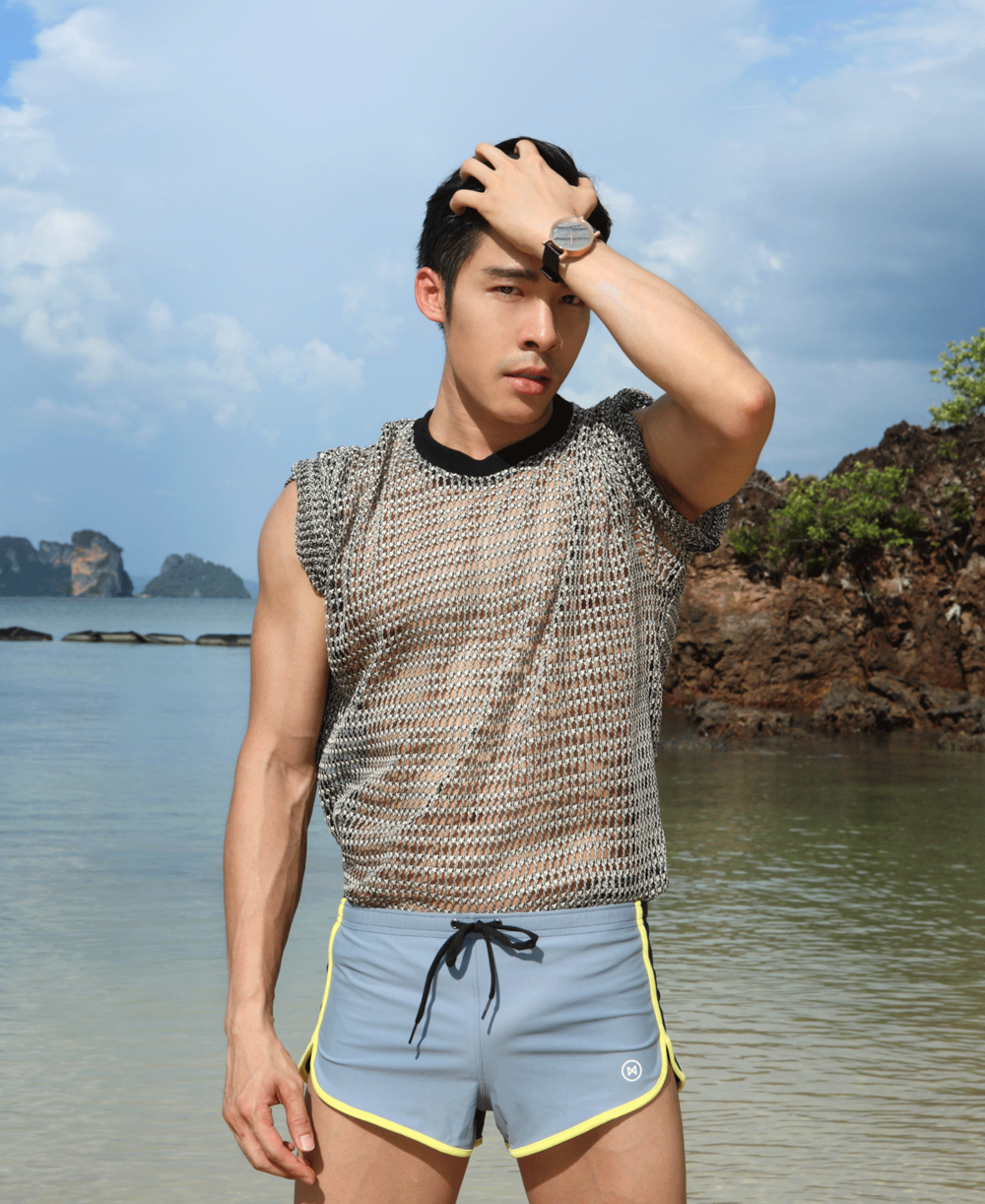top : Leisure Project Store / shorts : NOXX / watch : FORREST