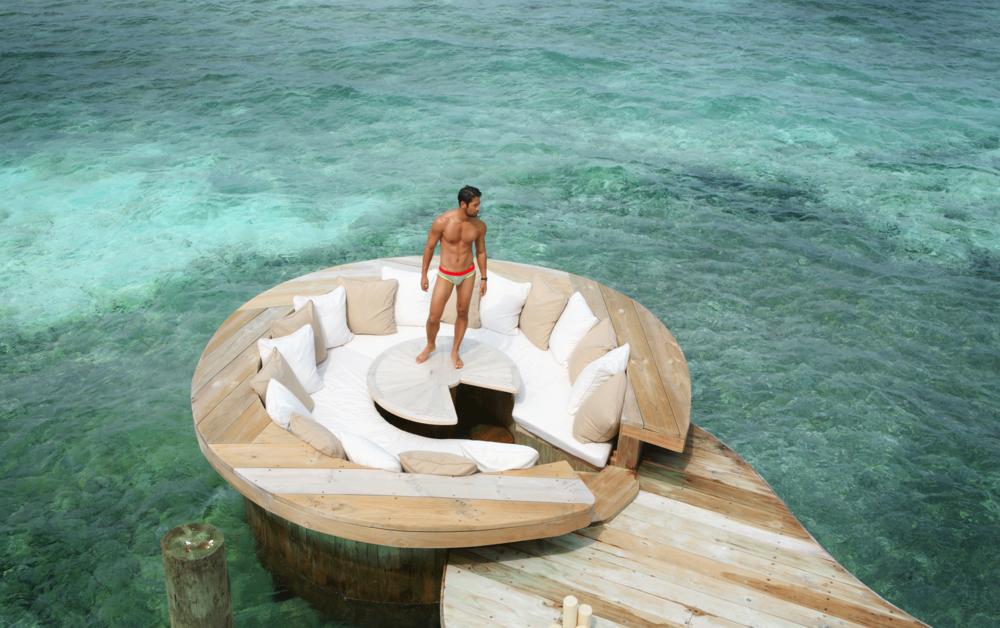 Soneva Jani, Maldives  Photo : Tu Virapoj Asavajarn  Model : Takuya Nakamura @model_taku from @redmodeling  Swimwear : NOXX wear @noxxwear  Watches : SWATCH  Location : Soneva Jani  Medhufaru Island, Noonu Atoll, Republic of Maldives  T: +960 656 6666   http://www.soneva.com/soneva -jani  Many Thanks : Khun Piyahatai Autchayawat / The MarCom Pro Co.,Ltd.  Special Thanks : BANGKOK AIRWAYS , Call Center at 1771, www.bangkokair.com