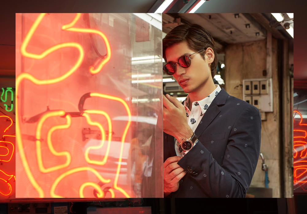 clothes : Paul Smith / sunglasses : TAVAT  watch :BULOVA Accu Swiss Murren Chronograph: 64C106